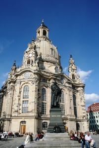 Frauenkirche - genopbygget efter genforeningen og færdig i 2005. Tysk grundighed når det er smukkest.