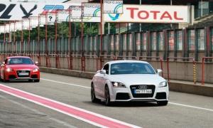 Audi TT RS på hjemmebane på den belgiske Grand Prix bane Zolder. (Foto - Henrik Dreboldt)
