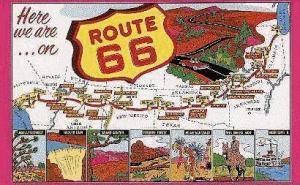 Fra Chigaco til stillehavet - altid med kursen mod vest. Klassisk amerikansk road-trip!