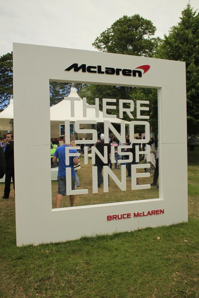 Er vi enige om, at McLarens slogan går godt i spænd med Goodwood tema 2014: Addicted to winning...