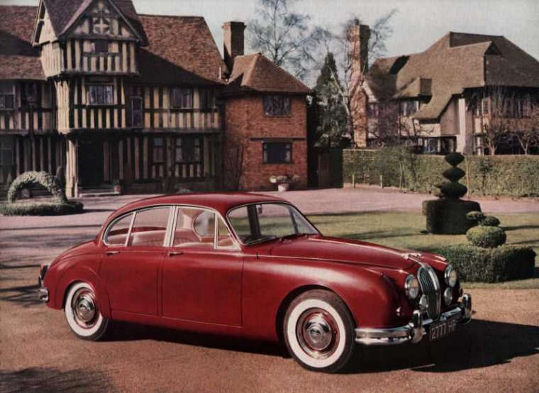 Det var biler som denne her Jaguar Mrk 2, der gjorde Jaguar til det foretrukne mærke hos den velbjergede del af middelklassen, som samtidigt yndede at køre lange ture på tværs af de britiske øer. MODELFOTO