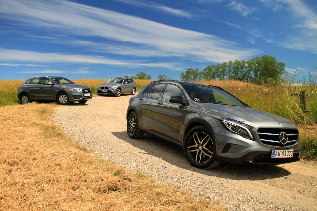 Den nye Mercedes GLA i kamp mod BMW X1 og Audi Q3. Tre MEGET forskellige klassekammerater.