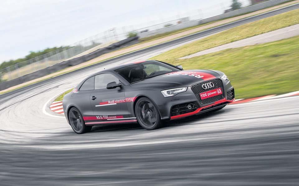 Audi RS5 diesel koncept var uhyre hurtig på Sturup - først og fremmest takket være et monstermoment.