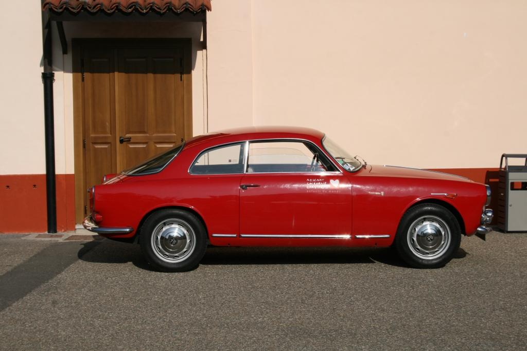 Den fransk-indregistrerede Giulietta Sprint fra 1959 jeg havde fornøjelsen af på Balocco.