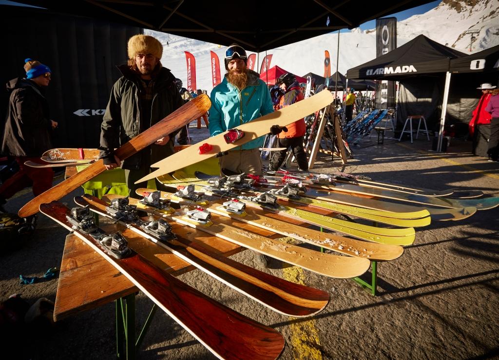 Sigurd og Petter fra Woodcouture med deres træski. Jeg mødte dem på surf&skis snowcamp 2014 i Sölden, og det er for fucking seje, med deres nørdede træski og autentiske entusiasme omkring produktet...