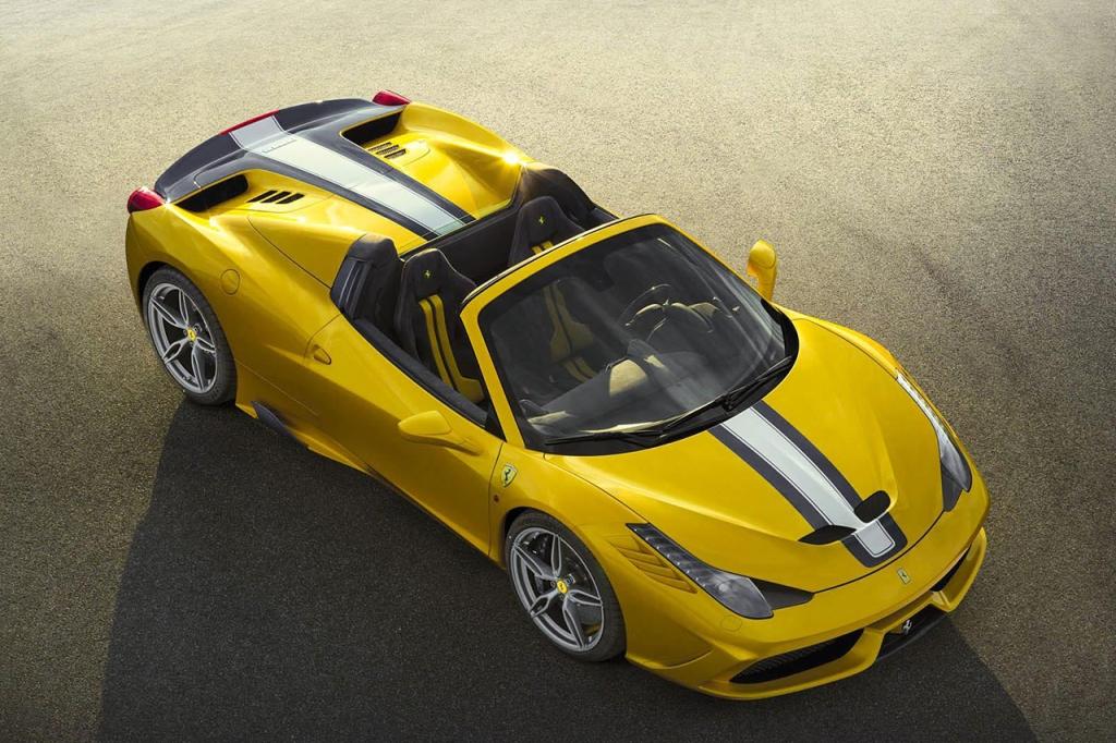 Vind i håret med over 300 km/t i en Ferrari, det er svært at konkurrerer med...