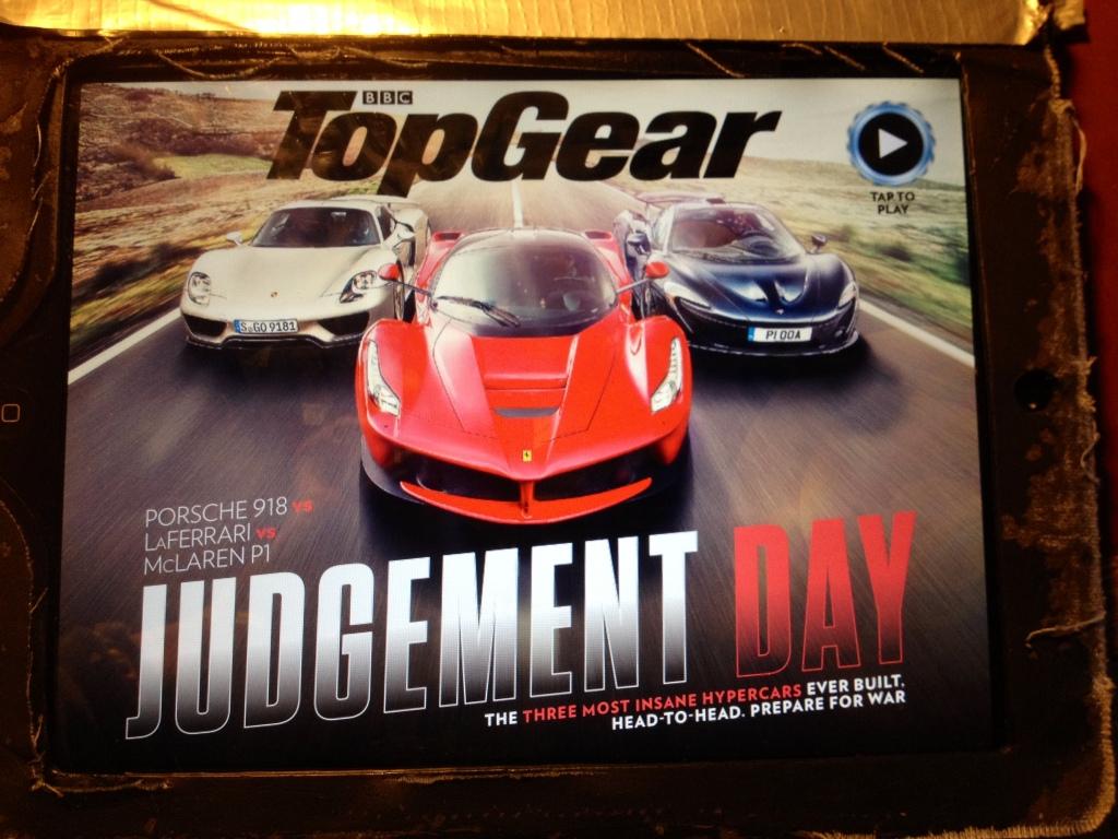 Dommens dag proklamerer Top Gear på forsiden af januarnummeret. OG de finde da også frem til en vinder i denne ultimative test.