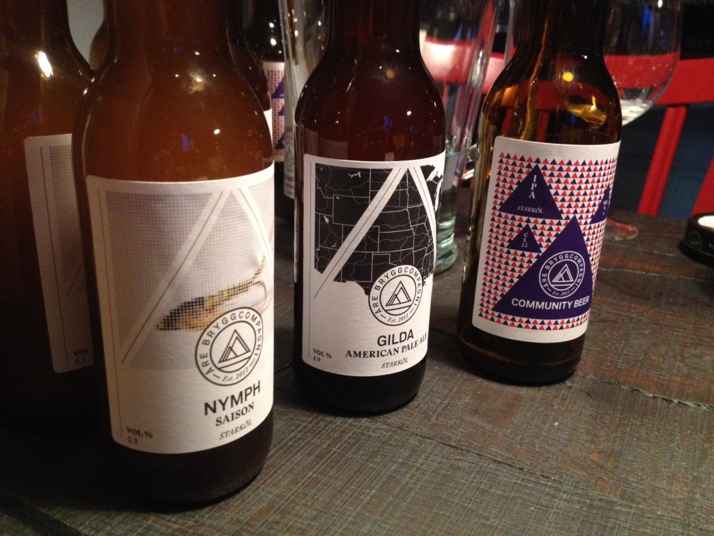 Fra venstre er det Nymp, Gilda og Community Beer Project.