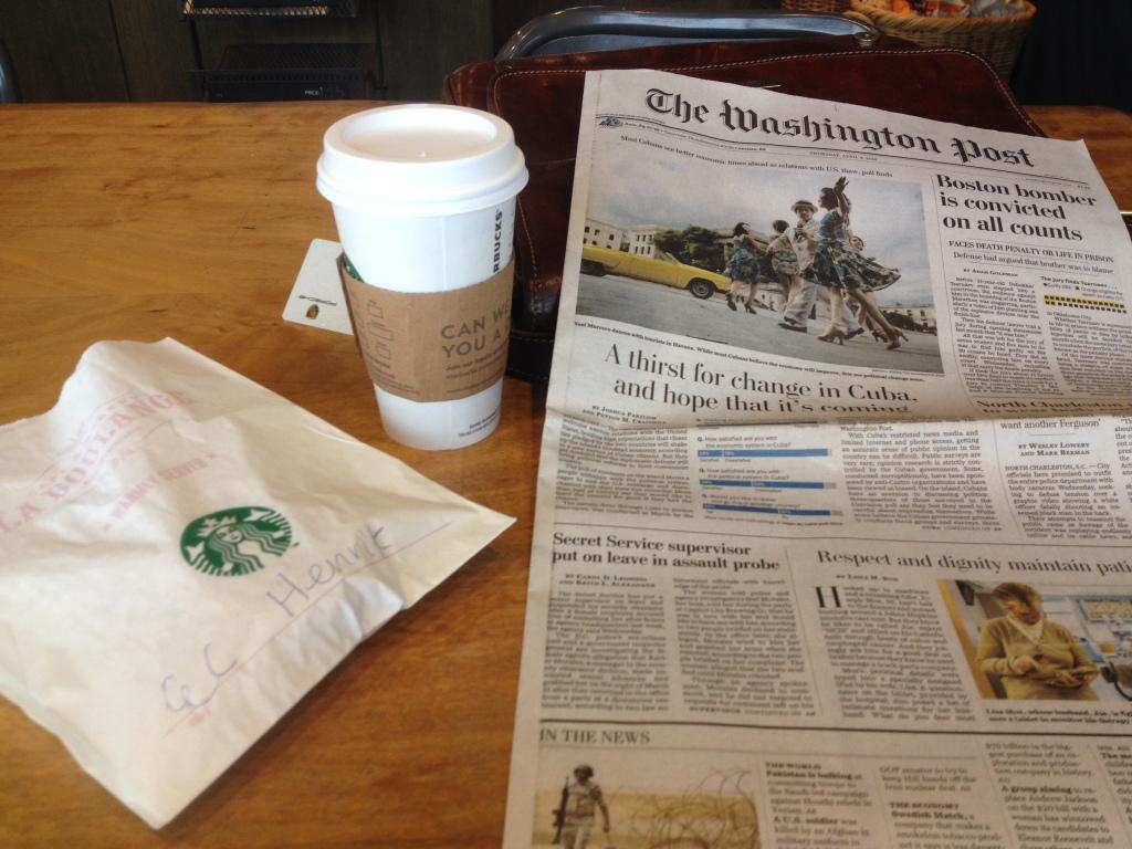 For at forstå et land, skal man læse deres aviser, og drikke deres kaffe. Starbucks og Washington Post er en start.