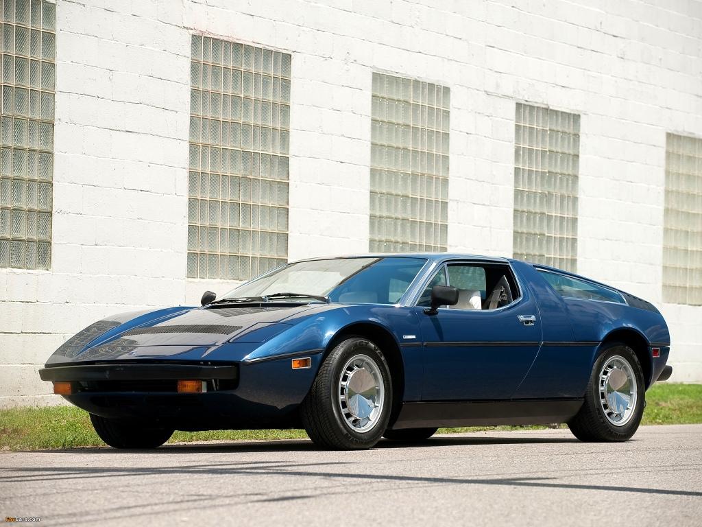 Maserati Bora er tæt på idealet af den elegante og stilrene 70er bil, med klaplygter, kileform og lige kanter alle vegne.