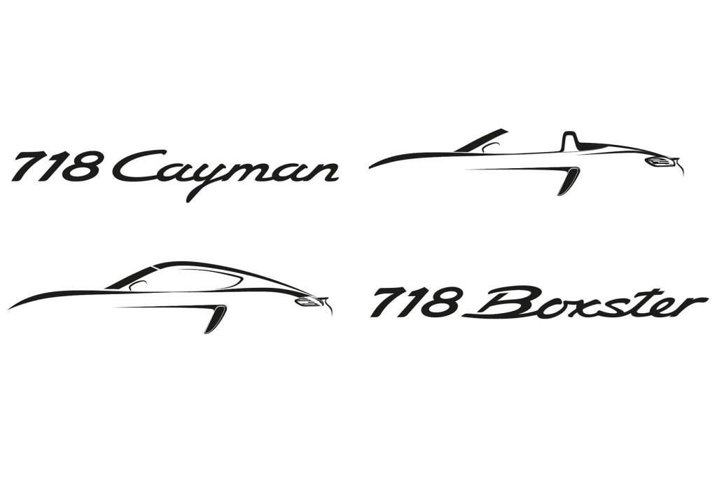 Coupé-udgaven af den mindste Porsche kommer til at hedder 718 Cayman, og roadsteren 718 Boxster.