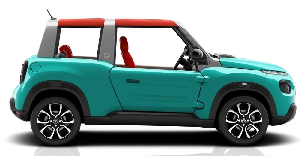 e-Meheri er en spøjs lille el-bil, med +100 km rækkevidde og lav pris. Den lanceres i Frankrig medio 2016.
