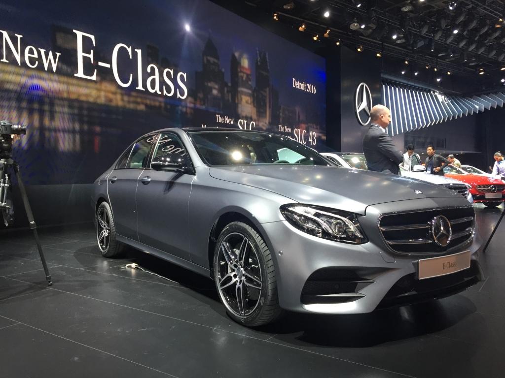 Den nye Mercedes E-Klasse blev vist for første gang i Detroit.