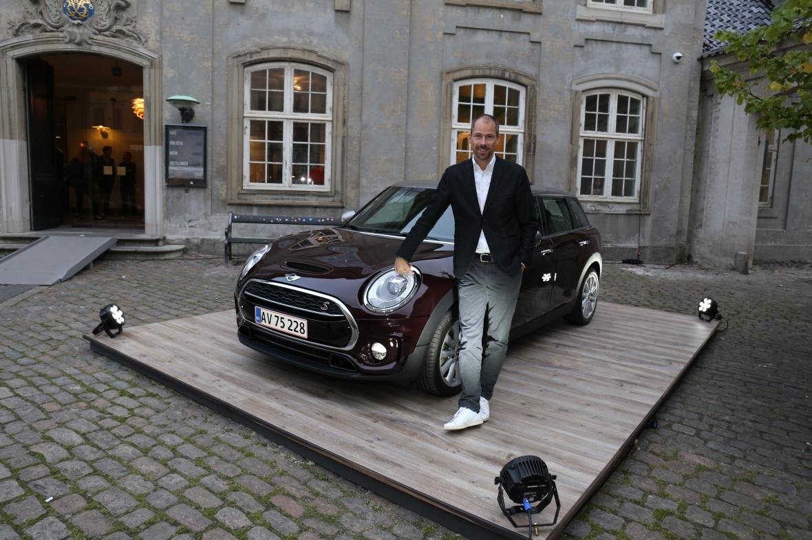 Anders Warming og hans seneste kreation Mini Clubman i København.