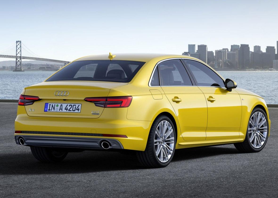 Der skal leges med farverne, for at give en A4 kant. Her er det Audis eget pressebillede, hvor de sparker til den gule solsikkekulør for at pifte et elegant men halvkedeligt design op.