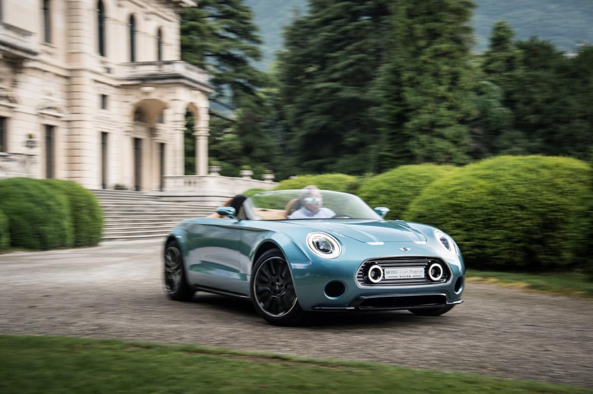Mini Superleggera Vision Concept skulle være basis for Minis første el-bil, der dermed bliver en sportsvogn iklædt mini-design. Jeg glæder mig...