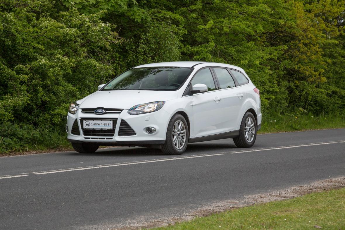 Ford Focus er både underholdende og teknisk fremme i hytteskoen. Den taber bare til bedre konkurrenter. (Foto: Karsten Lemche)