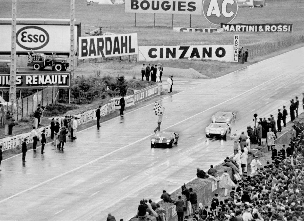 Sådan så det ud da Ford sejrede i 1966 og snuppede både 1., 2., og 3. pladsen.
